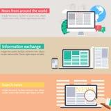 Global news information equipment for journalist Stock Photos
