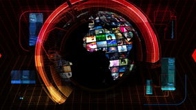 Global News Media Technology Graphics stock video