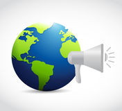 Global news megaphone message Royalty Free Stock Photos