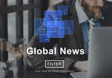Global News Online Technology Update Information Concept Royalty Free Stock Image