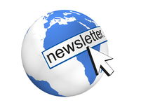 Global Newsletter Concept. In 3D Stock Photo