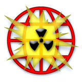 Global Nuclear Catastrophe. Symbol over white background Royalty Free Stock Images