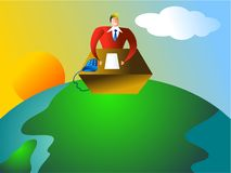 Global office royalty free illustration