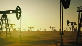 Global olja för ekologifabriksbensin som pumpar på oljor för tillverkningetappfält royaltyfri illustrationer
