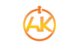 Global Online Auction Letter AK. Vector can use for any purpose Stock Photography