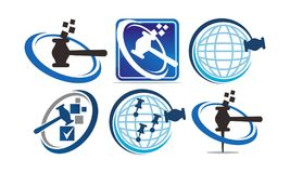 Global Online Auction Set. Vector Royalty Free Stock Photography