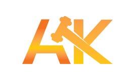 Global online-auktionbokstav AK Royaltyfri Bild