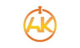 Global online-auktionbokstav AK Arkivbild