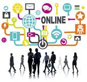 Global Online Communication Social Networking Technology Concept Stock Photography