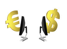 Global online exchange Stock Images