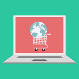 Global online shopping concept. Royalty Free Stock Photography