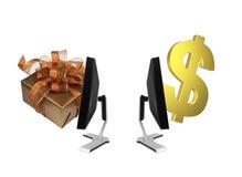 Global online shopping exchange Stock Image