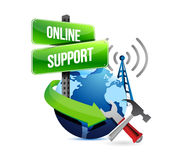 Global online support concept Stock Photos