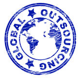 Global Outsourcing Represents Independent Contractor And Freelance royalty free illustration