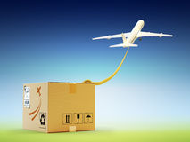 Global packages delivery and international parcels transportation concept Royalty Free Stock Photo
