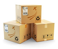 Global packages delivery and parcels transportation concept Royalty Free Stock Photo