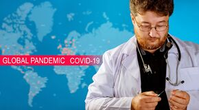 Global pandemic with coronavirus COVID-19 for Medical working with laboratory