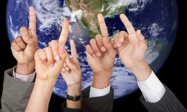 Global participation Stock Image