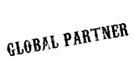 Global Partner rubber stamp Stock Image