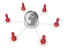 Global pawn connection Stock Images