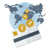 Global payment card Royalty Free Stock Photos