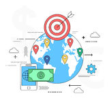 Global payment concept illustration Royalty Free Stock Photography