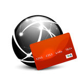 Global payment vector concept icon. Design Stock Photography