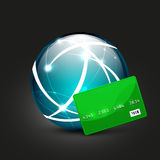 Global payment vector concept icon Royalty Free Stock Photo