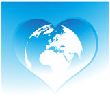 Global peace. Heart loving, peace Royalty Free Stock Image