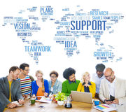 Global People Discussion Meeting Support Teamwork Concept Royalty Free Stock Images