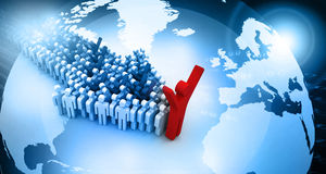 Global people leadership concept Royalty Free Stock Images