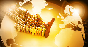 Global people leadership concept Stock Images
