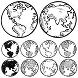 Global perspectives sketch Royalty Free Stock Photos