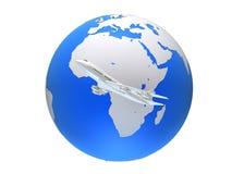 Global plane Royalty Free Stock Photo