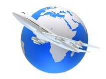 Global plane Royalty Free Stock Images