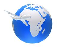 Global plane Stock Photo