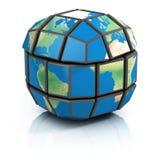 Global politik, illustration för globalisering 3d stock illustrationer