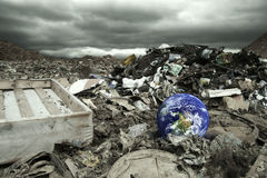 Global pollution. Global, environmental pollution concept Thanks NASA for an image of globe stock image