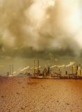 Global pollution caused by industry royalty free stock photos