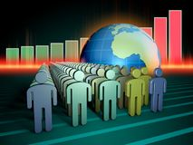Global population increase Royalty Free Stock Photo