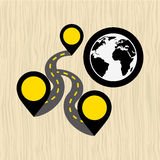 Global positioning system design Stock Photos