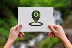Global positioning system destination Royalty Free Stock Photos