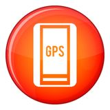 Global Positioning System icon, flat style Stock Photo
