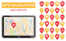 Global Positioning System, navigation. Infographic template Stock Image
