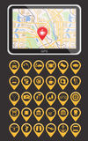 Global Positioning System, navigation. Infographic template Stock Photos