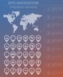 Global Positioning System, navigation. Infographic template Royalty Free Stock Images