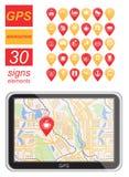 Global Positioning System, navigation. Stock Image