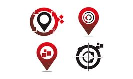 Global Positioning System Set. Vector Royalty Free Stock Photography