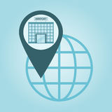 global positioning Stock Image
