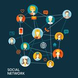 Global professional network concept Stock Images